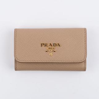 プラダ(PRADA)のPRADA★プラダ キーケース サフィアーノレザー 1PG222 SABBIA(キーホルダー)