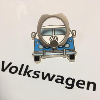 フォルクスワーゲン(Volkswagen)の【非売品】Volkswagen フォルクスワーゲン スマホリング ブルー(ノベルティグッズ)