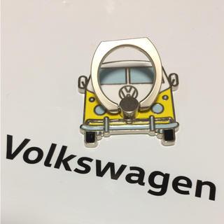 フォルクスワーゲン(Volkswagen)の【非売品】Volkswagen フォルクスワーゲン スマホリング イエロー(ノベルティグッズ)