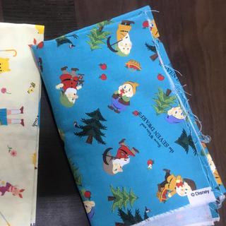 ディズニー(Disney)の布地 生地 ハンドメイド 7人の小人 白雪姫 ディズニー 日本製(生地/糸)