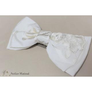 【美品】 日本製 和装用ヘッドドレス ブライダル 白無垢 髪飾り(その他)