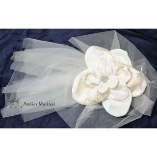 【美品】日本製 和装用ヘッドドレス ブライダル 白無垢 髪飾り ビッグ(その他)