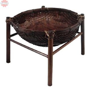 アビテ アジアン雑貨 竹製かご バンブースタンドバスケット1段 L H
