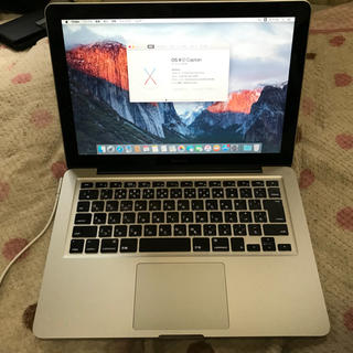 アップル(Apple)のApple Mac book 13.3インチ すぐ使える! 美品(PC周辺機器)