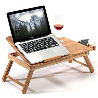 Hankey ノートパソコンデスク 折りたたみテーブル ローテーブル 竹製
