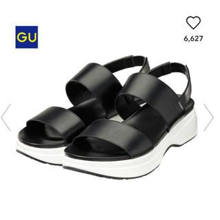 ジーユー(GU)のGUコンフォートサンダル黒 Lサイズ(サンダル)
