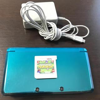 ニンテンドウ(任天堂)の3DS本体「3DSソフトカルチョビット・充電器付き」(家庭用ゲーム本体)