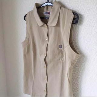 K-SWISS ポロシャツ ベージュ ノースリーブ