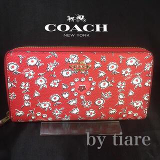 コーチ(COACH)の限定セール❣️新品コーチ長財布F57832ワイルドハートレッド フラワーマルチ(財布)