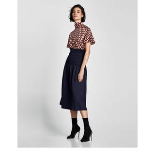 ザラ(ZARA)の新品タグ付 ザラzara ハイウエストスカート(ロングスカート)