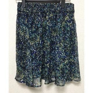 w60-80cmシティーヒルの抽象花柄レーススカート(ミニスカート)