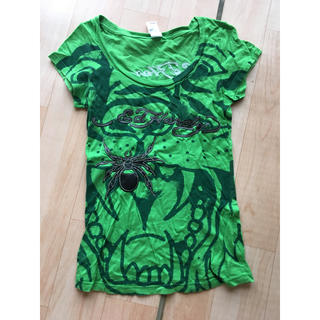 エドハーディー(Ed Hardy)のedhardyレザーロゴ Tシャツ(Tシャツ(半袖/袖なし))