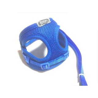 定番のハーネス(青)・通気性抜群・ハーネスリード・シンプル・簡単脱着