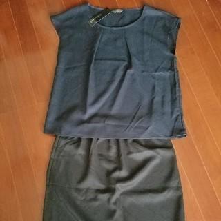 シマムラ(しまむら)の① ブラウス+スカートセット LL(セット/コーデ)
