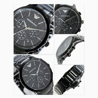 エンポリオアルマーニ(Emporio Armani)のエンポリオアルマーニ 腕時計 メンズ クロノグラフ ブラック(腕時計(アナログ))