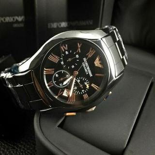 エンポリオアルマーニ(Emporio Armani)のエンポリオアルマーニ 腕時計 メンズ ブラック クロノグラフ(腕時計(アナログ))