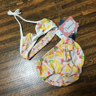 シマムラ(しまむら)の新品未使用タグ付 セパレート水着 90 フルーツ(水着)