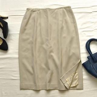 アイシービー(ICB)のアイシービーICB大きいサイズ 大人可愛いサイドスリットスカート オンワード樫山(ひざ丈スカート)