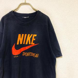 ナイキ(NIKE)の【90s】NIKE LOGO  TEE メンズ XL ネイビー アメリカ製(Tシャツ/カットソー(半袖/袖なし))
