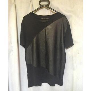 ザラ(ZARA)のZARA MAN レザー切り替えtシャツ(Tシャツ/カットソー(半袖/袖なし))