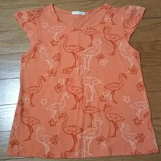 ジーユー(GU)のGU フラミンゴ柄シャツ(Tシャツ/カットソー)