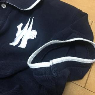 MONCLER - モンクレール MONCLER ビッグ刺繍半袖ポロシャツ ネイビー/ホワイト M