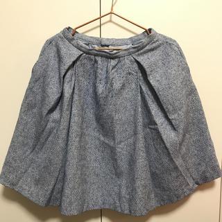 ジャスグリッティー(JUSGLITTY)の水色ツイードスカート(ひざ丈スカート)
