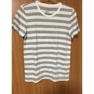 MUJI (無印良品) - 無印良品 ボーダー Tシャツ コットン