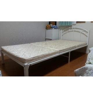 シングルベッド♡かわいい白パイプ(シングルベッド)