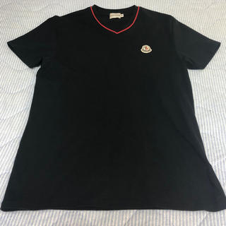 モンクレール(MONCLER)の[美品]モンクレール メンズTシャツ ブラック M(Tシャツ/カットソー(半袖/袖なし))