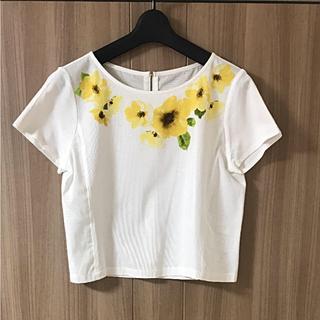 エフデ(ef-de)のmiri様専用♡ef-deお花柄カットソー+Diorチークセット(カットソー(半袖/袖なし))