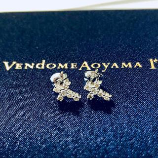 ヴァンドームアオヤマ(Vendome Aoyama)のヴァンドーム 青山 PT900 ダイヤ クロス ピアス 新品同様♡(ピアス)