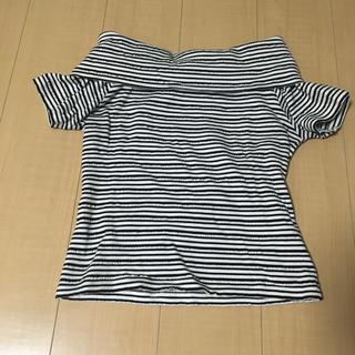 ジーユー(GU)のGU ボーダーオフショルトップス(カットソー(半袖/袖なし))
