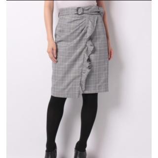 ジャスグリッティー(JUSGLITTY)の新品♡ジャスグリッティーチェックスカート(ひざ丈スカート)