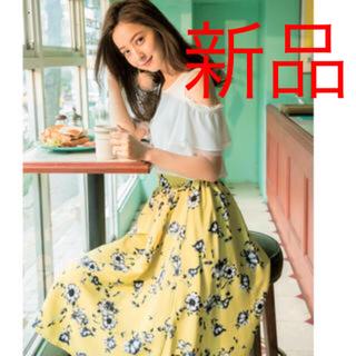 新品♡vis 花柄スカート