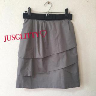 ジャスグリッティー(JUSGLITTY)のジャスグリッティー♡ティアードスカート♡(ひざ丈スカート)