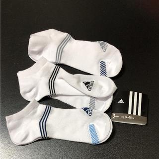 アディダス(adidas)の送料無料 アディダス  メッシュ 靴下 ソックス スニーカーソックス 3足セット(ソックス)