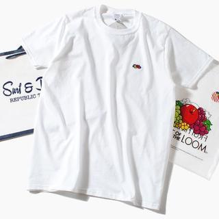 ロンハーマン(Ron Herman)のFruit Of The Loom ロゴTシャツ 白M (Tシャツ/カットソー(半袖/袖なし))