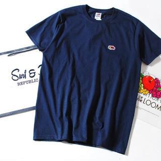 ロンハーマン(Ron Herman)のFruit Of The Loom ロゴTシャツ 紺L(Tシャツ/カットソー(半袖/袖なし))