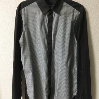 アバハウス(ABAHOUSE)のダークブラウンのストライプシャツ(シャツ)