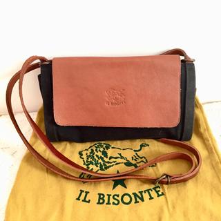 イルビゾンテ(IL BISONTE)のIL  BISONTE 本革 キャンバス ショルダーバッグ(ショルダーバッグ)