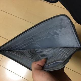 ムジルシリョウヒン(MUJI (無印良品))の無印良品 パスポートケース スリム グレー(旅行用品)