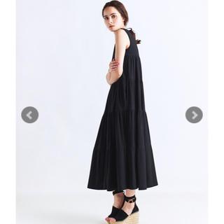 yori ティアードロングドレス ワンピース ブラック36 新品未使用 完売品(ロングワンピース/マキシワンピース)