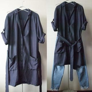 アーバンリサーチ(URBAN RESEARCH)のアーバンリサーチ 光沢 シャツ素材 薄手 トレンチコート ロングシャツ(シャツ/ブラウス(長袖/七分))