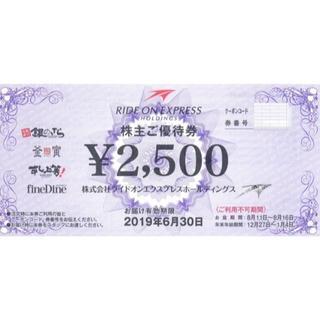 ライドオンエクスプレス 株主優待券 5000円分 銀のさら(その他)