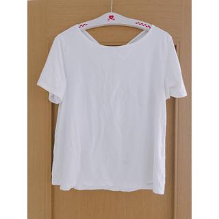 ジーユー(GU)の美品*GU*リボンシャツ(シャツ/ブラウス(半袖/袖なし))