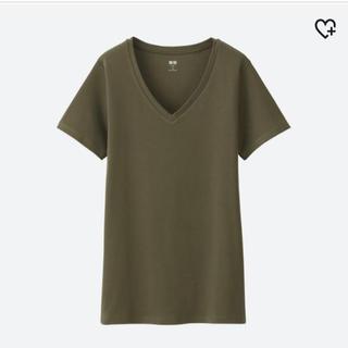 ユニクロ(UNIQLO)のユニクロスーピマコットンVネック Tシャツ XXL(Tシャツ(半袖/袖なし))