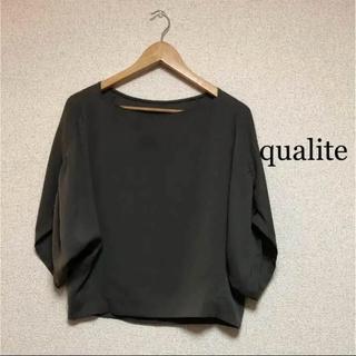 カリテ(qualite)のカリテ   ネックブラウス   38(シャツ/ブラウス(半袖/袖なし))