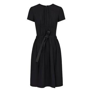 ルイヴィトン(LOUIS VUITTON)の Aラインプリーツベルトドレス ワンピース黒(その他)