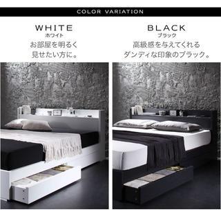 棚・コンセント・マットレス・収納付きフロアベット//シングル(シングルベッド)
